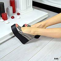 Туфли с открытым носиком на платформе натуральная кожа, фото 1