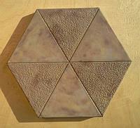 Формы для тротуарной плитки «Шестигранник- Треугольник» глянцевые пластиковые АБС ABS, фото 1