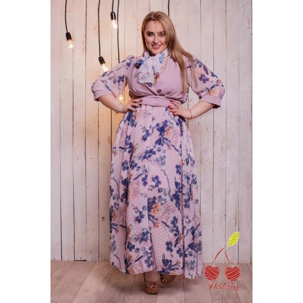 Шиарное летнее платье (норма и батал)