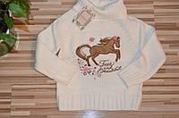 Вязаный свитер для девочек 3-8 лет