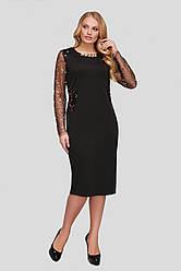 Вечернее платье больших размеров Адель черное