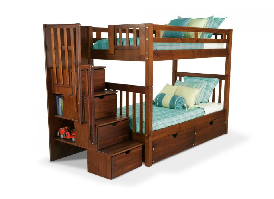 """Двухъярусная кровать из дерева """"Галлия"""""""