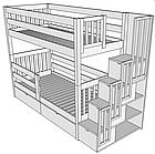 """Двухъярусная кровать из дерева """"Галлия"""" , фото 3"""