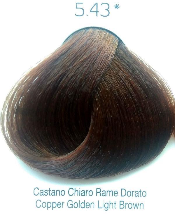 Стойкая крем-краска Color One KROM 5/43 Медно-золотистый светло-коричневый , 100 мл