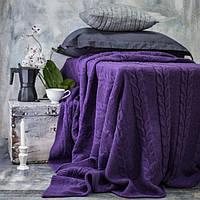 Покрывало вязаное Vividzone КОЛОС 180х210 фиолет