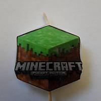 "Святкова свічка для торта "" Майнкрафт ( Minecraft ) """