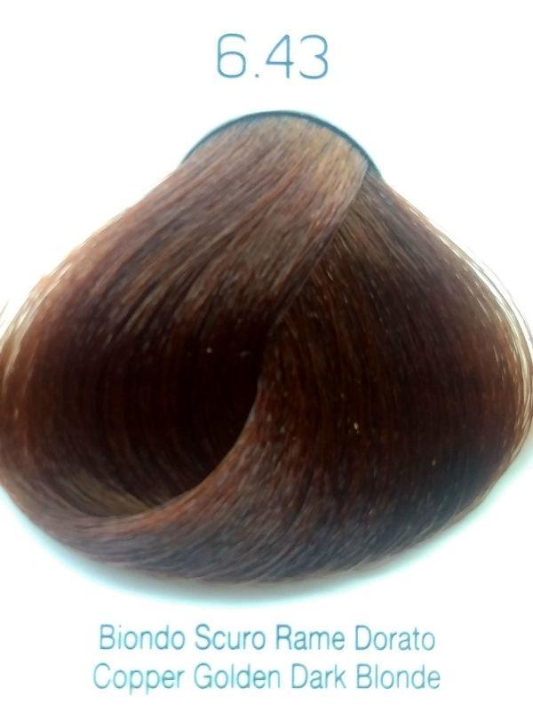Стойкая крем-краска Color One KROM 6/43 Медно-золотистый темный блондин , 100 мл