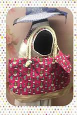 Яркая женская сумка с оригинальным принтом для пляжа или покупок, фото 2