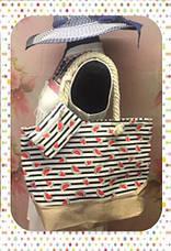 Яркая женская сумка с оригинальным принтом для пляжа или покупок, фото 3