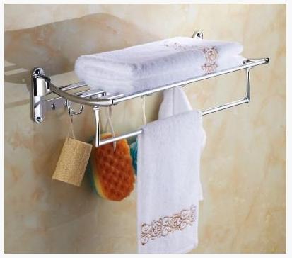 Полочка в ванную с крючками 6-021
