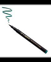 """Жидкая перманентная подводка для глаз """"Permanent Eyeliner Pen"""" Бирюзовая Ламбре / Lambre"""