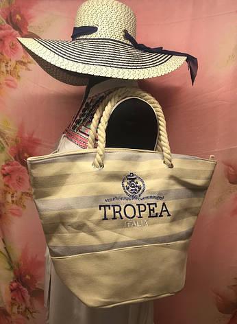 Пляжная брендовая женская сумка на море, фото 2