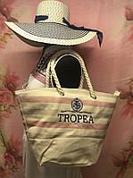 Пляжная брендовая женская сумка на море