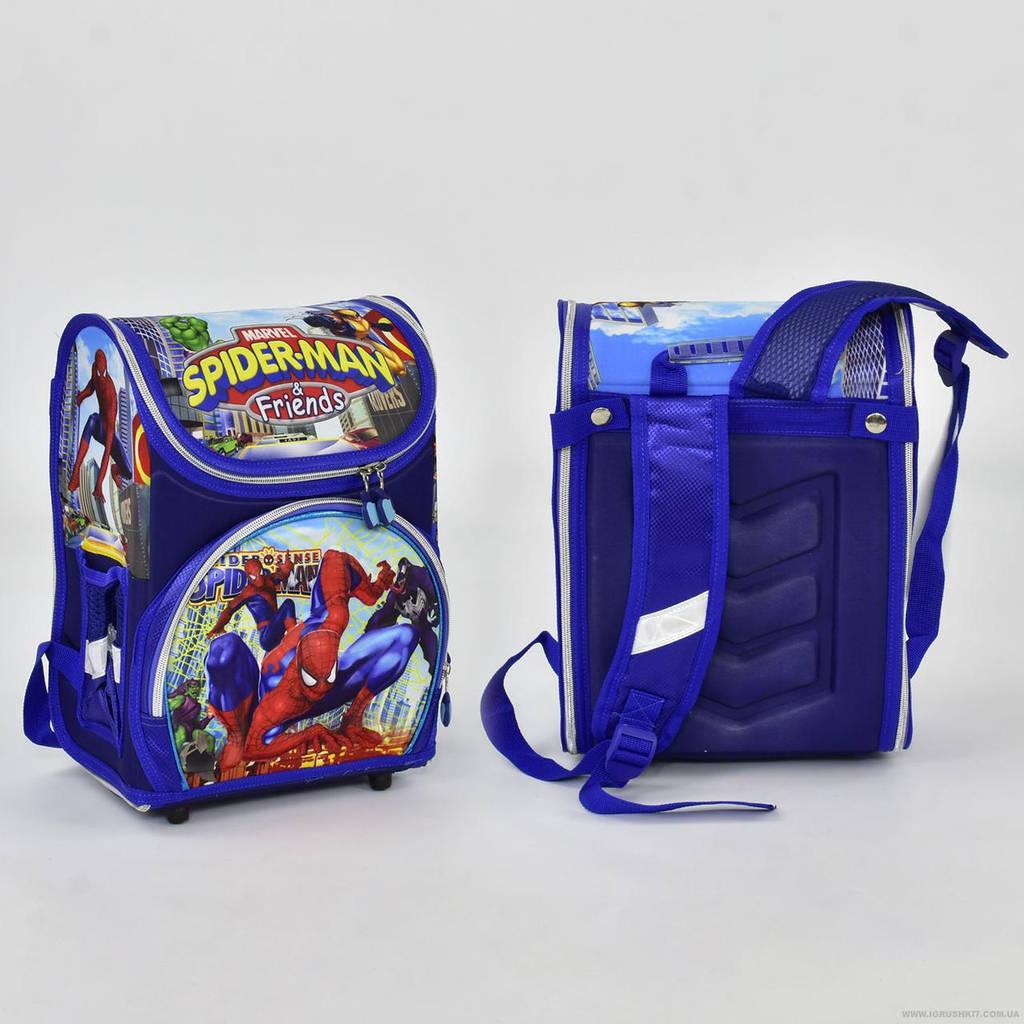 Рюкзак школьный N 00159 Человек Паук 2 кармана, спинка ортопедическая