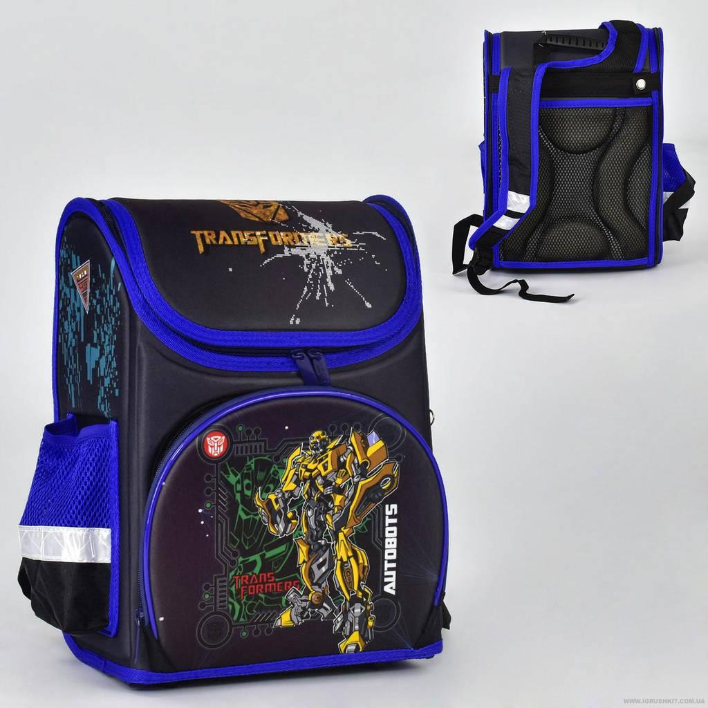 Рюкзак школьный два кармана, спинка ортопедическая, ножки пластиковые Трансформеры N 00167