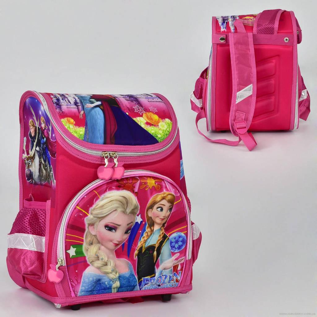 Рюкзак школьный два кармана, спинка ортопедическая, ножки пластиковые Фроузен N 00152