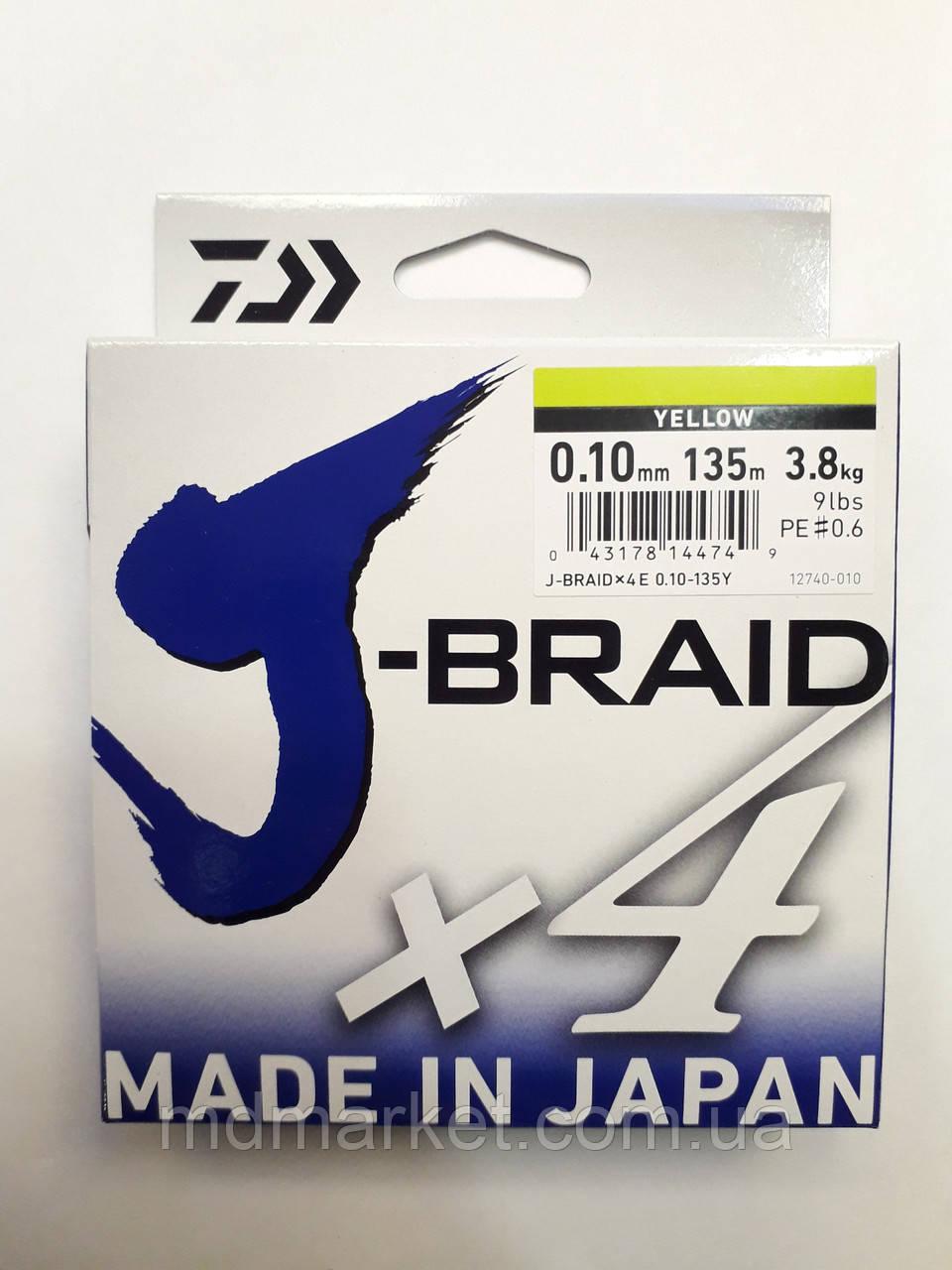 Шнур Daiwa J-Braid x4 0.19мм 10.2кг 135м