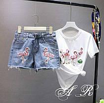 Костюм футболка и джинсовые шорты, размеры S,M L XL, фото 3