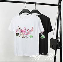 Костюм футболка и джинсовые шорты, размеры S,M L XL, фото 2