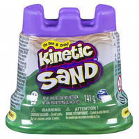 Песок для детского творчества - KINETIC SAND Мини крепость(зеленый,141 г)