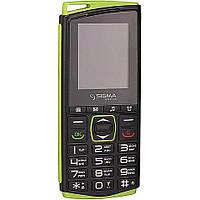 Кнопочный телефон с кнопкой SOS и отверстием для шнурка Sigma Comfort 50 mini4 зеленый