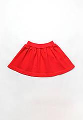 Яркая детская юбка из двухнитки для девочек 4 - 9 лет (р. 104-134) ТМ Модный карапуз Красный