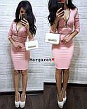 Женское облегающее платье с монией (3 цвета), фото 6