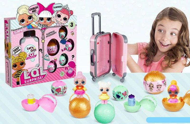 """Лялька Лол ВВ 37 """"2в1 + ПОДАРУНОК"""" """"LoL"""" в яйці, c валізою, Розмір упаковки: 33 см × 8 см × 30 см"""