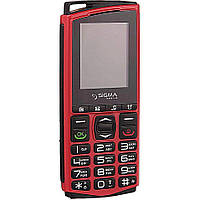 Кнопочный телефон с кнопкой SOS и отверстием для шнурка Sigma Comfort 50 mini4 красный