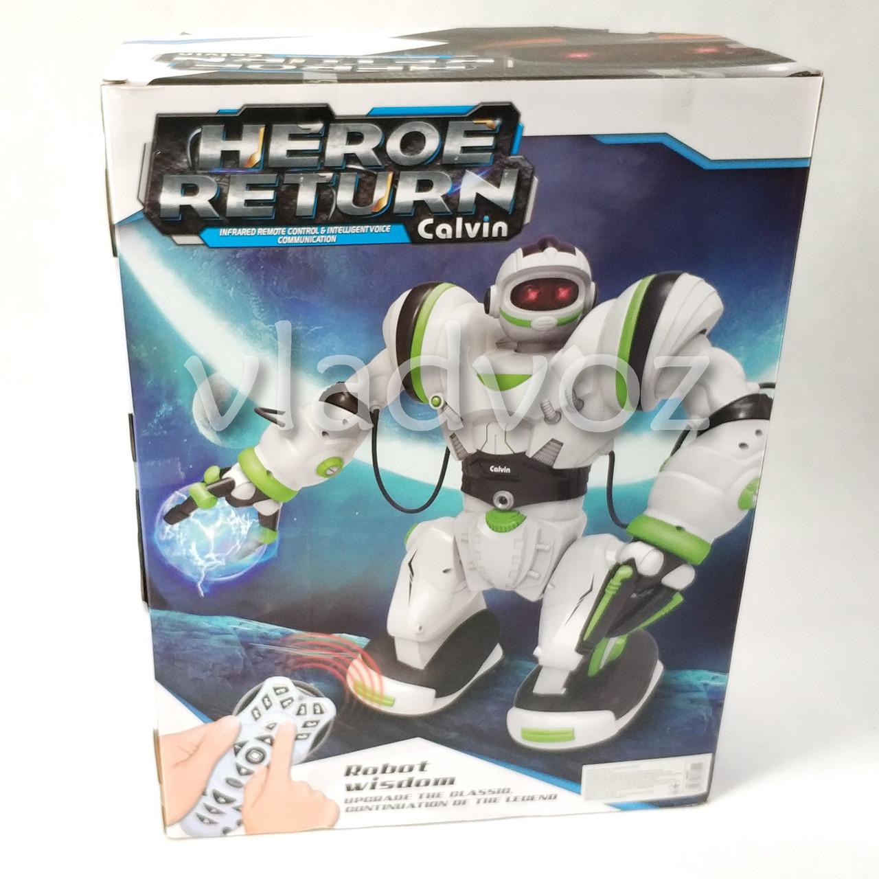 Робот на пульті управління радіокерована іграшка на акумуляторах Robowisdom білий з салатовим - фото 2