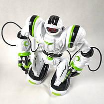 Робот на пульте управления радиоуправляемая игрушка на аккумуляторах Robowisdom белый с салатовым, фото 3