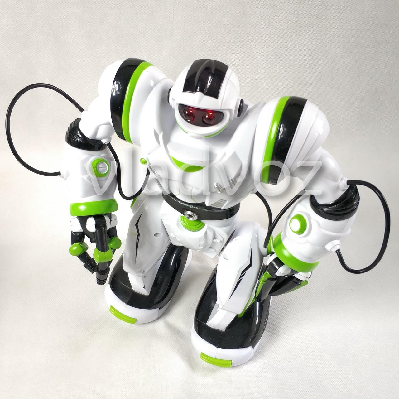 Робот на пульті управління радіокерована іграшка на акумуляторах Robowisdom білий з салатовим - фото 3
