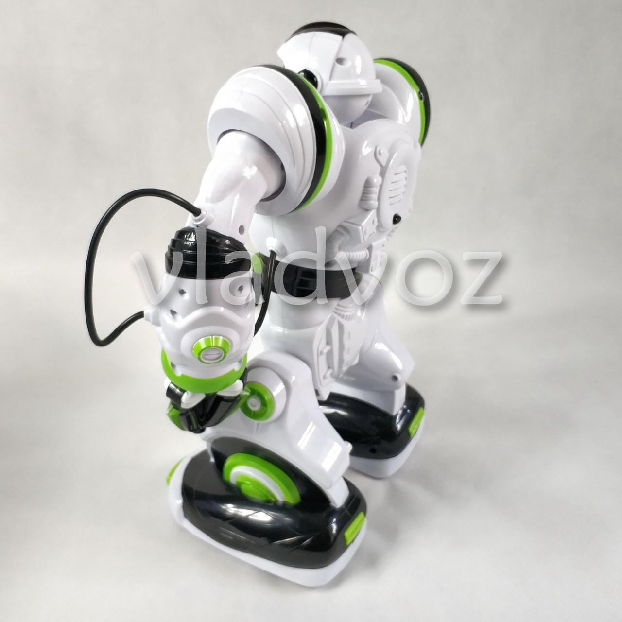 Робот на пульті управління радіокерована іграшка на акумуляторах Robowisdom білий з салатовим - фото 4