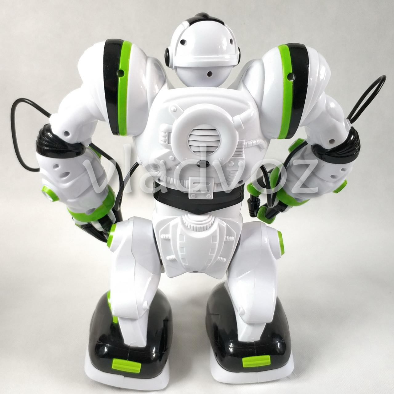 Робот на пульті управління радіокерована іграшка на акумуляторах Robowisdom білий з салатовим - фото 5