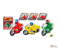 Детский мотоцикл «Байк»  (14 см) Dickie Toys. 4006333342714
