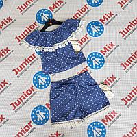 Оптом річний котонові костюм в горошки для дівчаток Angelina