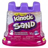 Песок для детского творчества - KINETIC SAND Мини крепость (розовый,141 г)