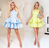 Платье двойной волан пишное 42 44 46 48 50 Р, фото 1
