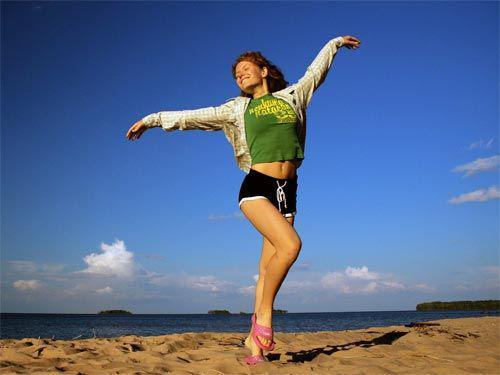 Дівчина і спорт Картинка 1.