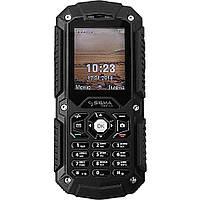 Водонепроницаемый кнопочный телефон на 2 сим карты с 3G Sigma X-treme PQ67 чёрный