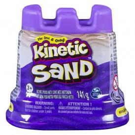 Песок для детского творчества - KINETIC SAND Мини крепость  (фиолетовый,141 г)