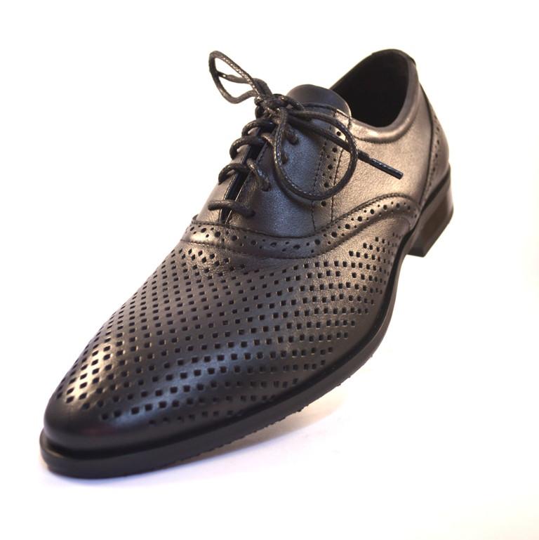 Летние туфли обувь больших размеров мужская Rosso Avangard BS Felicite Black Perf