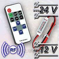 LED диммер mini 12A RF 144W 12V с управлением по RF каналу для светодиодной ленты, фото 3