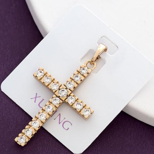 Крестик  xuping позолота длина 3.6см к314