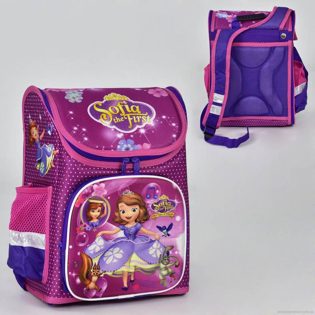 Рюкзак школьный два кармана, спинка ортопедическая, ножки пластиковые София Прекрасная N 00169