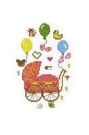 """Набор для вышивки """"С рождением дочурки"""" 15х18 см., фото 1"""