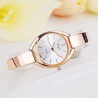 Женские часы Lupai rose gold с белым циферблатом