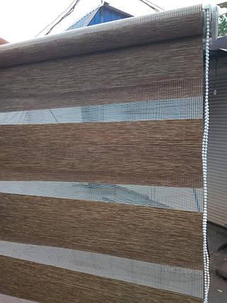 Рулонные шторы День - Ночь Меланж Н-1 45×150 см. Акционная цена!