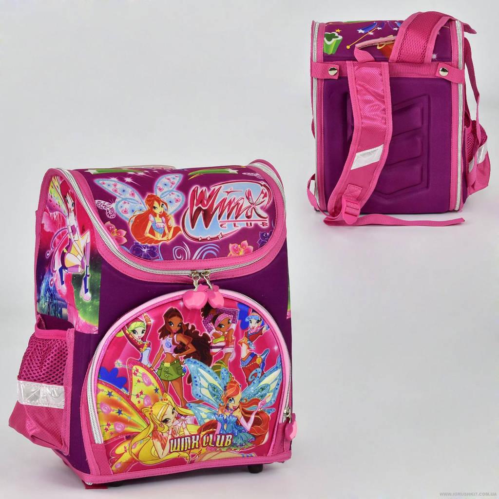 Рюкзак школьный два кармана, спинка ортопедическая, ножки пластиковые Winx N 00151
