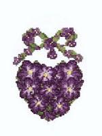 "Набор для вышивки ""Фиалковое сердце"" 15х18 см., фото 1"